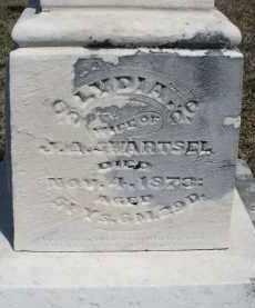 SWARTSEL, LYDIA - Montgomery County, Ohio | LYDIA SWARTSEL - Ohio Gravestone Photos