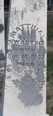 SWARTSEL, MATTHIAS - Montgomery County, Ohio | MATTHIAS SWARTSEL - Ohio Gravestone Photos