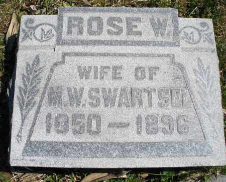 SWARTSEL, ROSE W. - Montgomery County, Ohio | ROSE W. SWARTSEL - Ohio Gravestone Photos