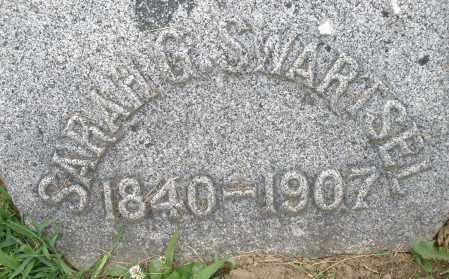 SWARTSEL, SARAH G. - Montgomery County, Ohio | SARAH G. SWARTSEL - Ohio Gravestone Photos
