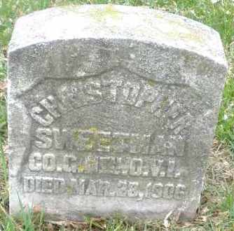 SWEETMAN, CHRISTOPHER - Montgomery County, Ohio | CHRISTOPHER SWEETMAN - Ohio Gravestone Photos