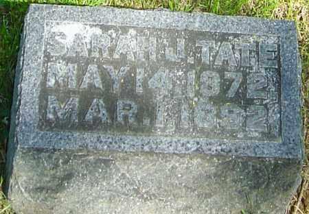 TATE, SARAH J - Montgomery County, Ohio | SARAH J TATE - Ohio Gravestone Photos