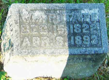 TATE, WILLIAM P - Montgomery County, Ohio   WILLIAM P TATE - Ohio Gravestone Photos