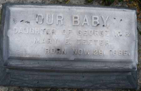 TEETER, INFANT DAUGHTER - Montgomery County, Ohio | INFANT DAUGHTER TEETER - Ohio Gravestone Photos