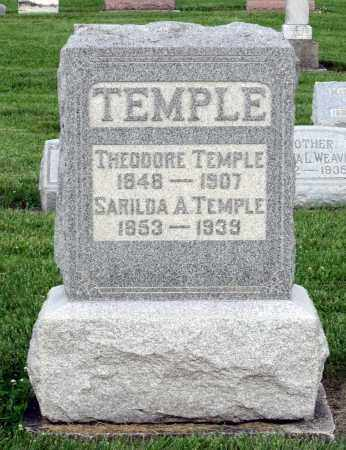 TEMPLE, SARILDA A. - Montgomery County, Ohio | SARILDA A. TEMPLE - Ohio Gravestone Photos