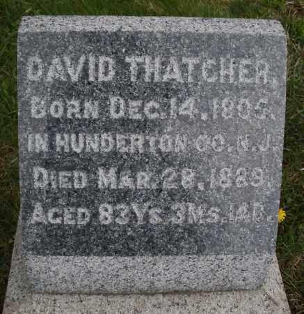 THATCHER, DAVID - Montgomery County, Ohio | DAVID THATCHER - Ohio Gravestone Photos