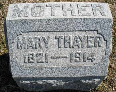 THAYER, MARY - Montgomery County, Ohio | MARY THAYER - Ohio Gravestone Photos