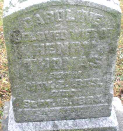 THOMAS, CAROLINE - Montgomery County, Ohio | CAROLINE THOMAS - Ohio Gravestone Photos