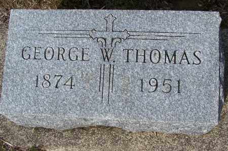 THOMAS, GEORGE W. - Montgomery County, Ohio | GEORGE W. THOMAS - Ohio Gravestone Photos