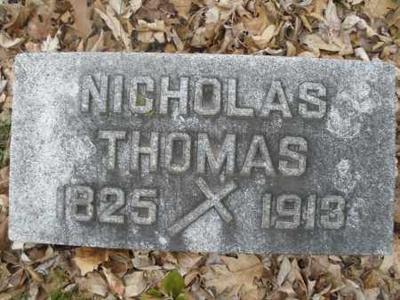 THOMAS, NICHOLAS - Montgomery County, Ohio | NICHOLAS THOMAS - Ohio Gravestone Photos