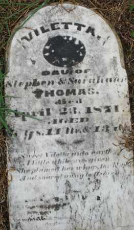 THOMAS, VILETTA - Montgomery County, Ohio | VILETTA THOMAS - Ohio Gravestone Photos