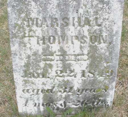 THOMPSON, MARSHAL - Montgomery County, Ohio | MARSHAL THOMPSON - Ohio Gravestone Photos