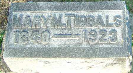 TIBBALS, MARY M - Montgomery County, Ohio | MARY M TIBBALS - Ohio Gravestone Photos