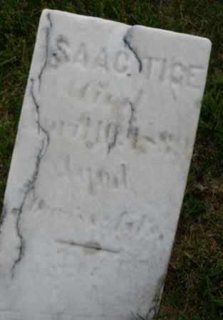 TIGE, ISAAC - Montgomery County, Ohio | ISAAC TIGE - Ohio Gravestone Photos