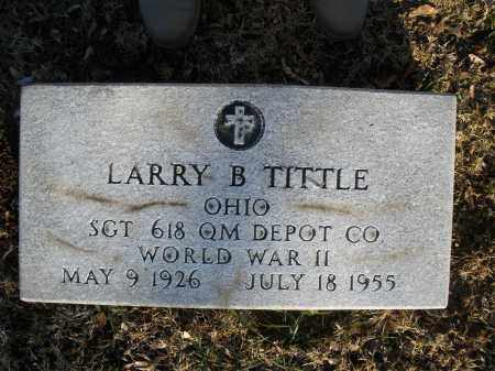 TITTLE, LARRY B. - Montgomery County, Ohio | LARRY B. TITTLE - Ohio Gravestone Photos