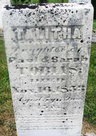 TOBIAS, TALITHA - Montgomery County, Ohio | TALITHA TOBIAS - Ohio Gravestone Photos