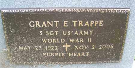 TRAPPE, GRANT E. - Montgomery County, Ohio | GRANT E. TRAPPE - Ohio Gravestone Photos