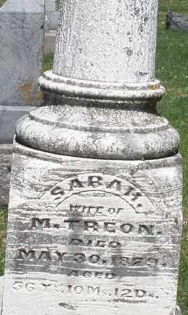 TREON, SARAH - Montgomery County, Ohio   SARAH TREON - Ohio Gravestone Photos
