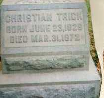 TRICK, CHRISTIAN - Montgomery County, Ohio | CHRISTIAN TRICK - Ohio Gravestone Photos
