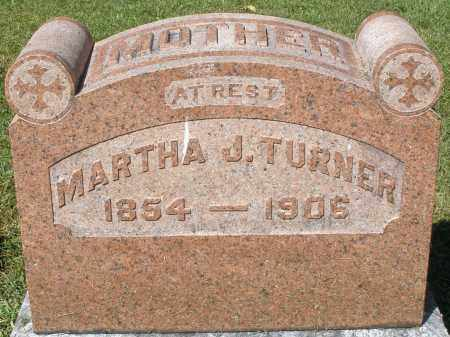 TURNER, MARTHA J. - Montgomery County, Ohio | MARTHA J. TURNER - Ohio Gravestone Photos