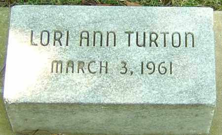 TURTON, LORI ANN - Montgomery County, Ohio | LORI ANN TURTON - Ohio Gravestone Photos