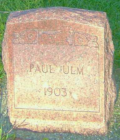 UHL, PAUL - Montgomery County, Ohio | PAUL UHL - Ohio Gravestone Photos