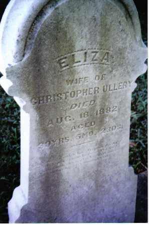 ULLERY, ELIZA - Montgomery County, Ohio | ELIZA ULLERY - Ohio Gravestone Photos