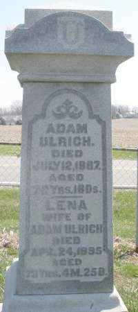 ULRICH, ADAM - Montgomery County, Ohio | ADAM ULRICH - Ohio Gravestone Photos
