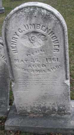 UMBENHOUER, HENRY G. - Montgomery County, Ohio | HENRY G. UMBENHOUER - Ohio Gravestone Photos