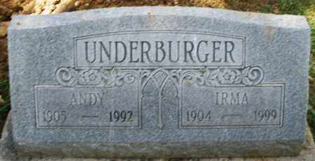 UNDERBURGER, ANDY - Montgomery County, Ohio | ANDY UNDERBURGER - Ohio Gravestone Photos