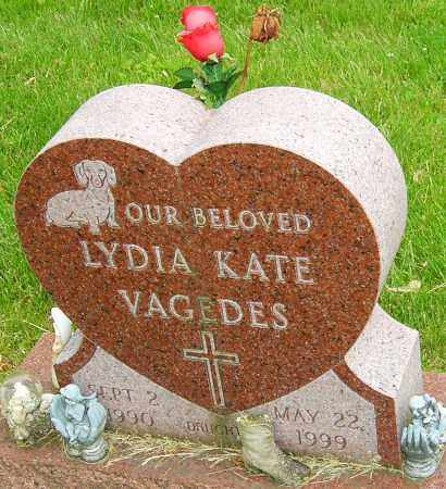 VAGEDES, LYDIA KATE - Montgomery County, Ohio | LYDIA KATE VAGEDES - Ohio Gravestone Photos