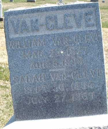 VAN CLEVE, WILLIAM - Montgomery County, Ohio | WILLIAM VAN CLEVE - Ohio Gravestone Photos