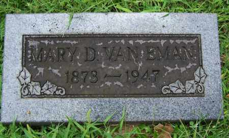 VAN EMAN, MARY D - Montgomery County, Ohio | MARY D VAN EMAN - Ohio Gravestone Photos
