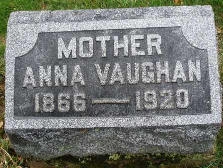 VAUGHAN, ANNA - Montgomery County, Ohio | ANNA VAUGHAN - Ohio Gravestone Photos