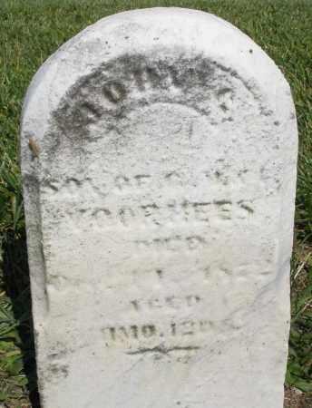 VOORHEES, JOHN - Montgomery County, Ohio | JOHN VOORHEES - Ohio Gravestone Photos