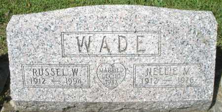 WADE, NELLIE M. - Montgomery County, Ohio | NELLIE M. WADE - Ohio Gravestone Photos