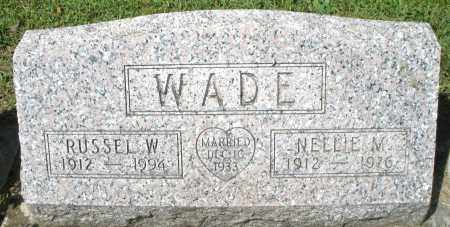 WADE, RUSSEL W. - Montgomery County, Ohio | RUSSEL W. WADE - Ohio Gravestone Photos