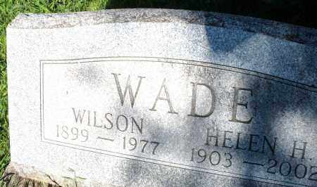 WADE, WILSON - Montgomery County, Ohio | WILSON WADE - Ohio Gravestone Photos