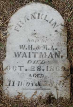 WAITMAN, FRANKLIN - Montgomery County, Ohio | FRANKLIN WAITMAN - Ohio Gravestone Photos