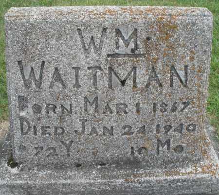WAITMAN, WILLIAM - Montgomery County, Ohio | WILLIAM WAITMAN - Ohio Gravestone Photos