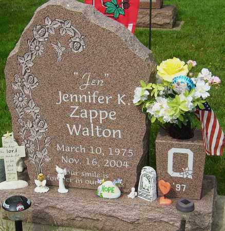 ZAPPE WALTON, JENNIFER K - Montgomery County, Ohio | JENNIFER K ZAPPE WALTON - Ohio Gravestone Photos