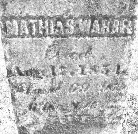 WARBEL, MATHIAS - Montgomery County, Ohio | MATHIAS WARBEL - Ohio Gravestone Photos