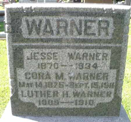 WARNER, JESSE - Montgomery County, Ohio | JESSE WARNER - Ohio Gravestone Photos