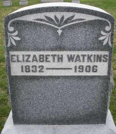 WATKINS, ELIZABETH - Montgomery County, Ohio | ELIZABETH WATKINS - Ohio Gravestone Photos