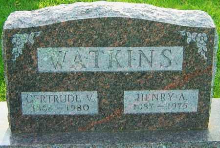 WATKINS, GERTRUDE V - Montgomery County, Ohio | GERTRUDE V WATKINS - Ohio Gravestone Photos