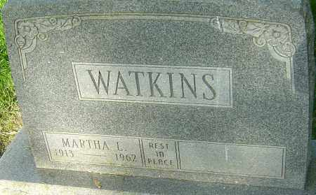 WATKINS, MARTHA L - Montgomery County, Ohio | MARTHA L WATKINS - Ohio Gravestone Photos