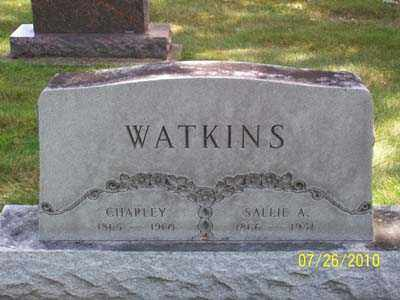 WATKINS, SALLIE A - Montgomery County, Ohio | SALLIE A WATKINS - Ohio Gravestone Photos