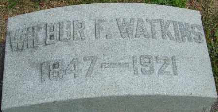 WATKINS, WILBUR F - Montgomery County, Ohio | WILBUR F WATKINS - Ohio Gravestone Photos