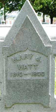 WATT, MARY J. - Montgomery County, Ohio | MARY J. WATT - Ohio Gravestone Photos