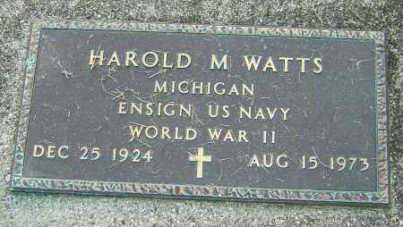 WATTS, HAROLD M - Montgomery County, Ohio | HAROLD M WATTS - Ohio Gravestone Photos
